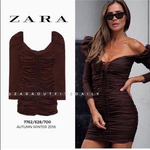 Zara brown dress- BLOGGER FAV.